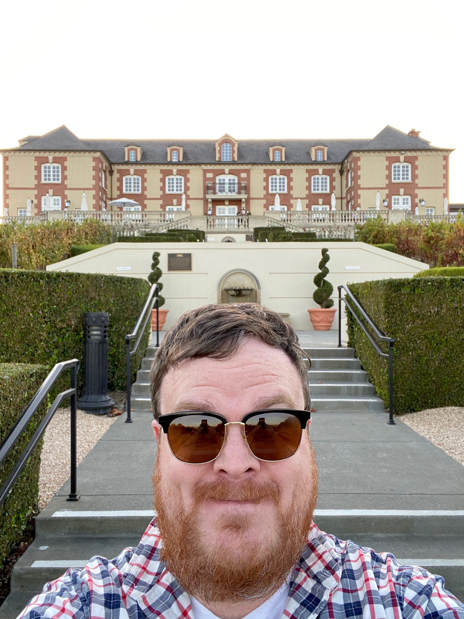 Me and the Domaine Carneros building