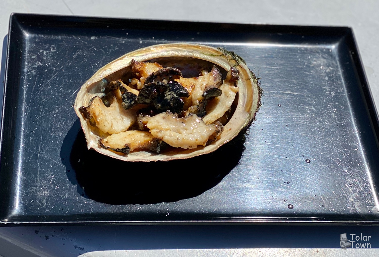 Abalone, poached in butter