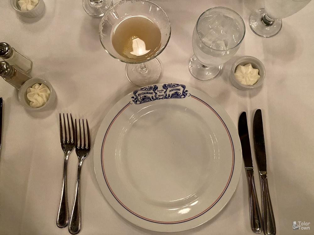 Antoine's: place setting